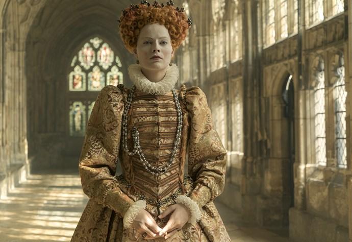 Margot as Queen Elizabeth I in *Mary Queen Of Scots.*