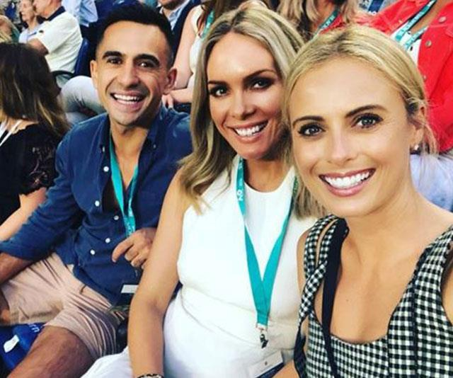 """Way to go, Melbourne 🎾🎾🎾 that was a blast 💥💥💥 #australianopen #blackmores."" *(Image: @sylviajeffreys Instagram)*"