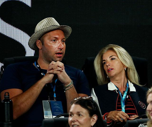 Thorpie looked engrossed as he watched Roger Federer take on Taylor Fritz. *(Image: Getty)*