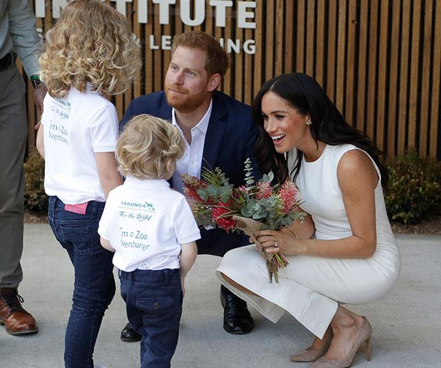 Harry and Meghan are due to debut their baby to the world this Wednesday. *(Image: Getty)*