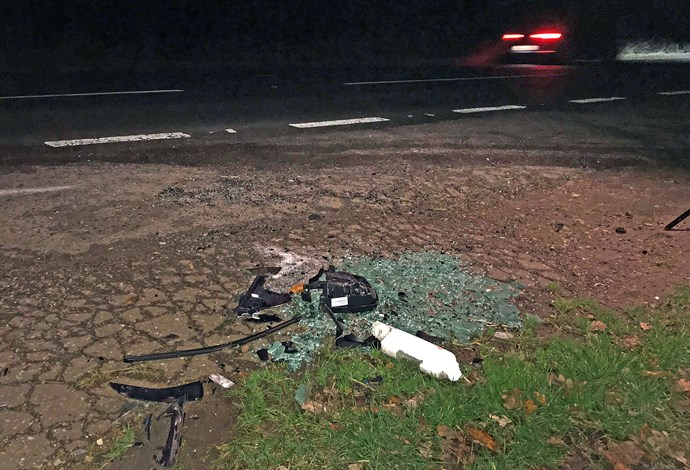 The crash saw Philip's car flipped, and left Emma Fairweather with a broken arm. *(Image: Getty)*