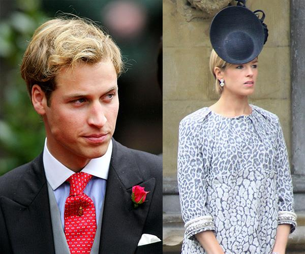 William had his eye on blonde heiress Isabella Anstruther-Gough-Calthorpe during his university days. *(Images: Getty Images)*