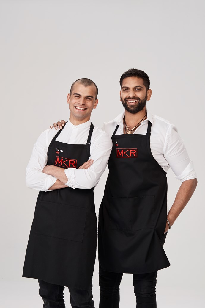 **VICTOR, 28,  & G, 30,  VIC **  **Bartending best mates** <br><br> ***How would you describe your food?*** <br><br> G: Our cooking is based on our heritage, but we want to be experimental. My food culture is Malaysian, Indian, Chinese. <br><br> Victor: I've got a Malaysian Indian mum, but I grew up in Switzerland. You put it all together and you get Eurasian. <br><br> ***Clues to their kitchen:*** Victor reveals he loves to challenge people's ideas of the conventional.