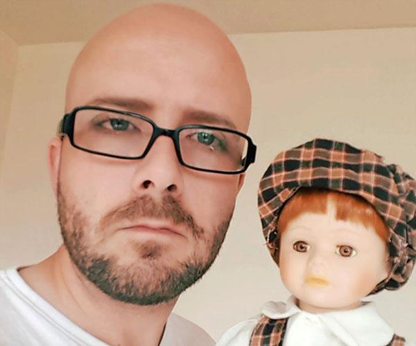 I'd been drawn to Peter the doll.