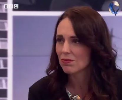 NZ Prime Minister Jacinda Ardern's initial response to the marriage question. *(Source: BBC)*