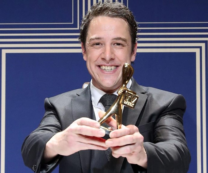 The acclaimed actor with his Gold Logie Award. *(Image: Getty)*