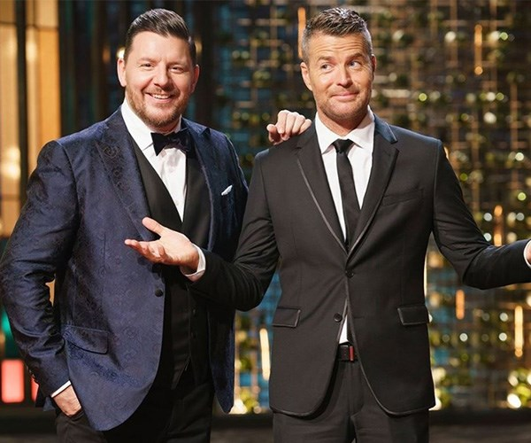 Manu and Pete have been judging the show for 10 years. *(Image: Instagram @mykitchenrules)*