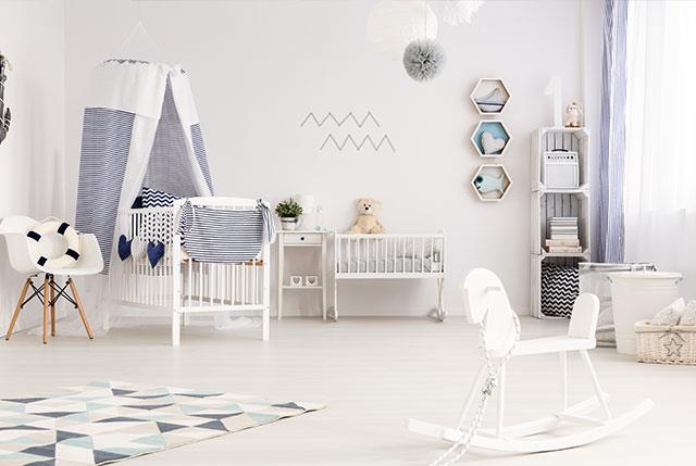 Modern and chic: Baby Sussex's nursery will reportedly have a monochrome palette. *(Image: Getty)*