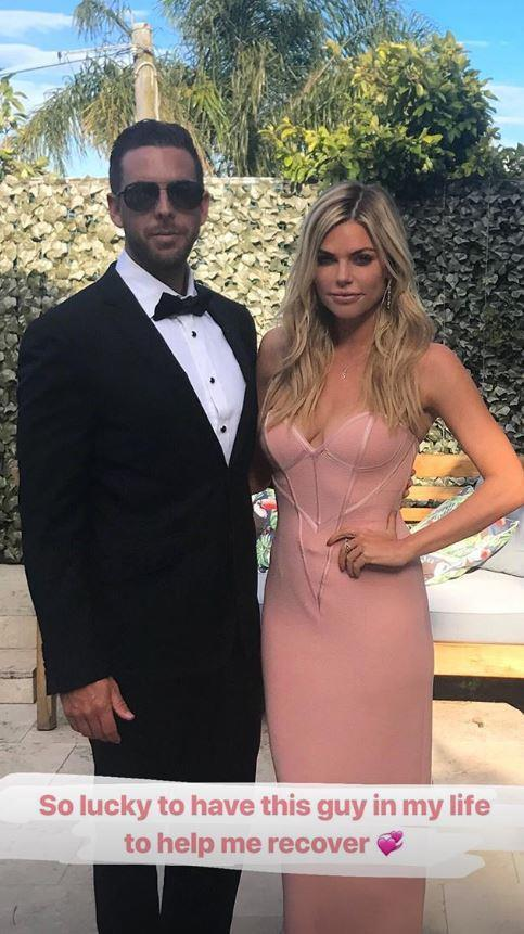 Sophie shared a rare glimpse of her new man on her Instagram stories with this snap from Joshua's sister's wedding. *(Image: Instagram @sophiemonk)*