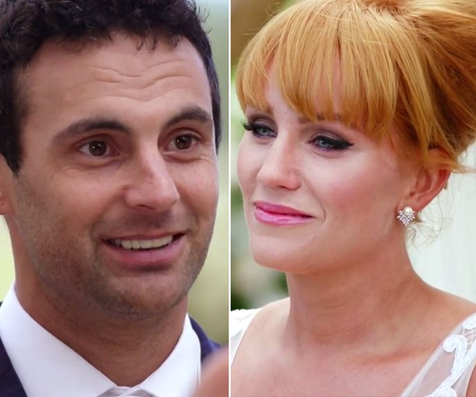 The moment Cam and Jules first laid eyes on each other! *(Source: Channel 9)*