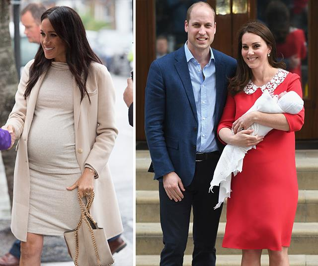 Duchess Meghan's post-birth media appearance will not be like her brother and sister-in-law's. *(Images: Getty Images)*