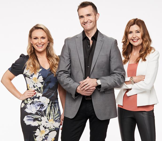 The *Married At First Sight* love experts Mel Schilling,John Aiken and Trisha Stratford.