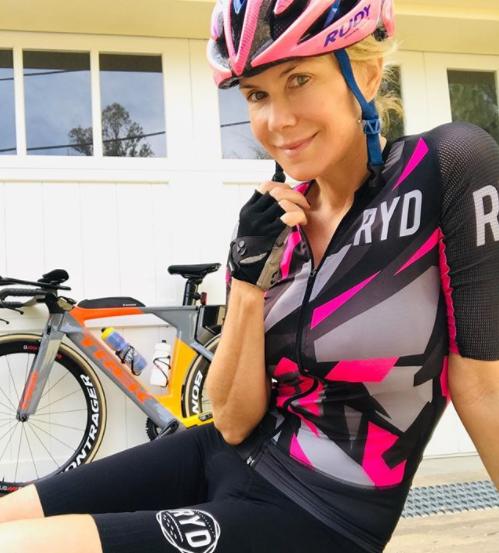 Katherine keeps very fit by competing in triathlons. *(Image: Instagram)*