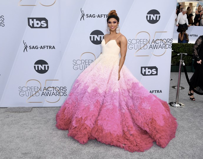 RuPaul's Drag Race fan favourite Shangela sure knows how to make an eye-catching entrance.