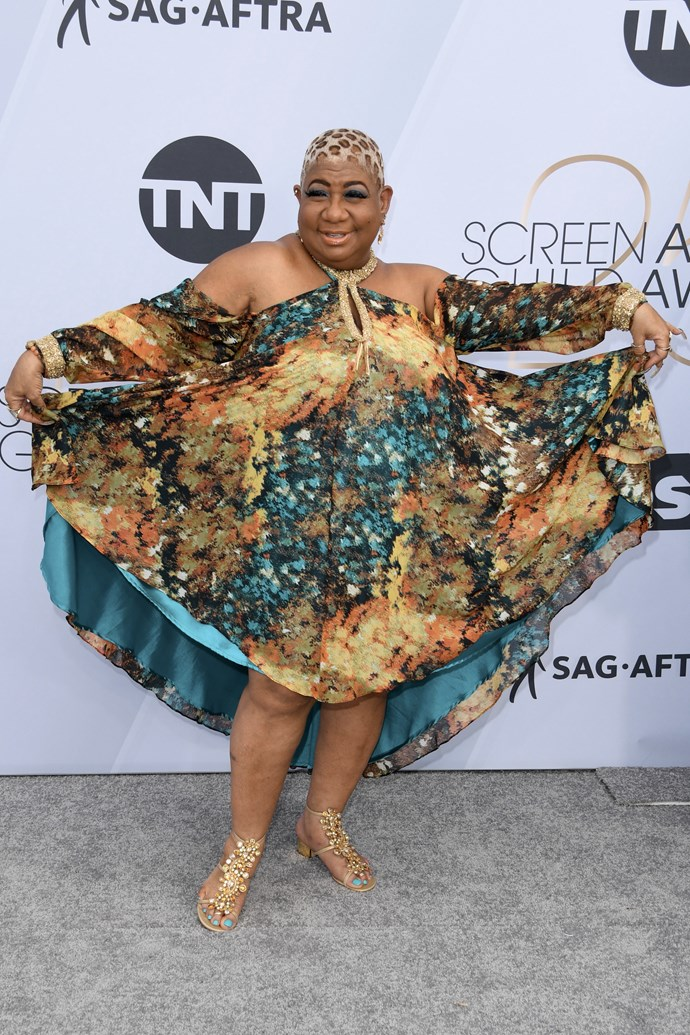 Comedian Luenell makes a statement with this colourful kaftan.