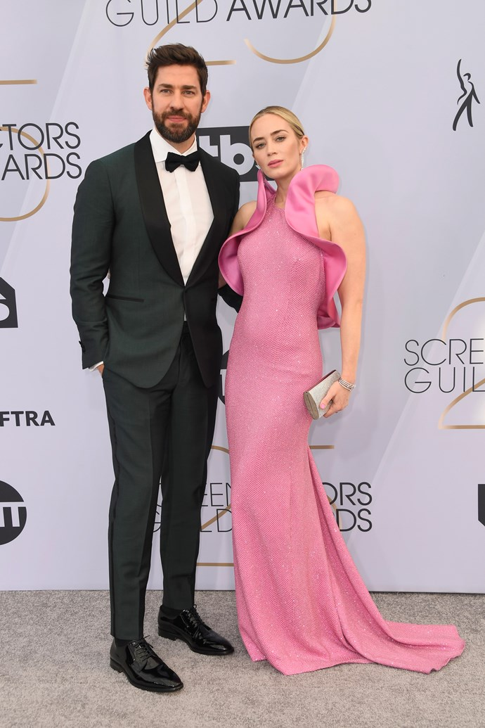 Hollywood's most adored couple John Krasinski and Emily Blunt get our vote for the best dressed duo of the night.