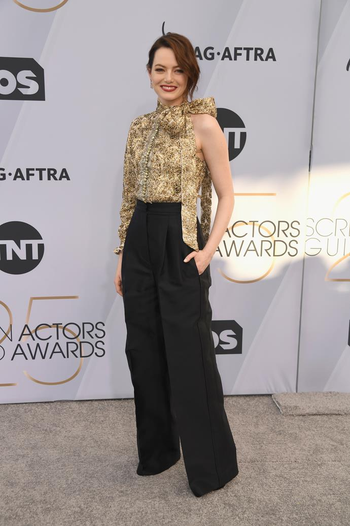 Emma Stone in her favourite red carpet look - pants!