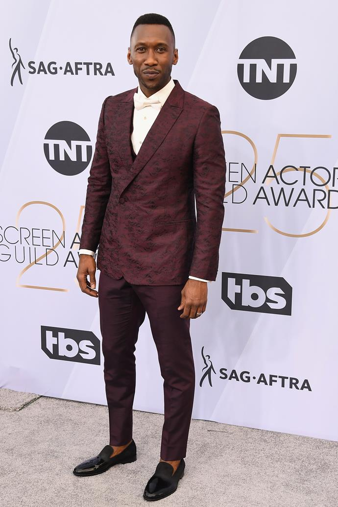*Green Book*'s Mahershala Ali is up for the Best Male Actor SAG in a Supporting Role.