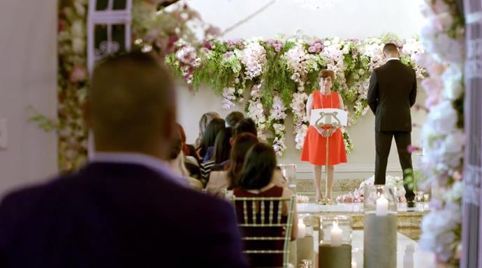 We felt like we were attending a real wedding... those flowers!! *(Source: Channel 9)*