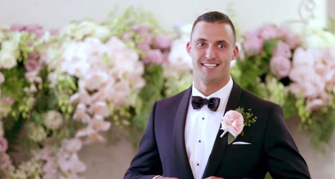 Nic seeing Cyrell for the VERY first time at the wedding. *(Source: Channel 9)*