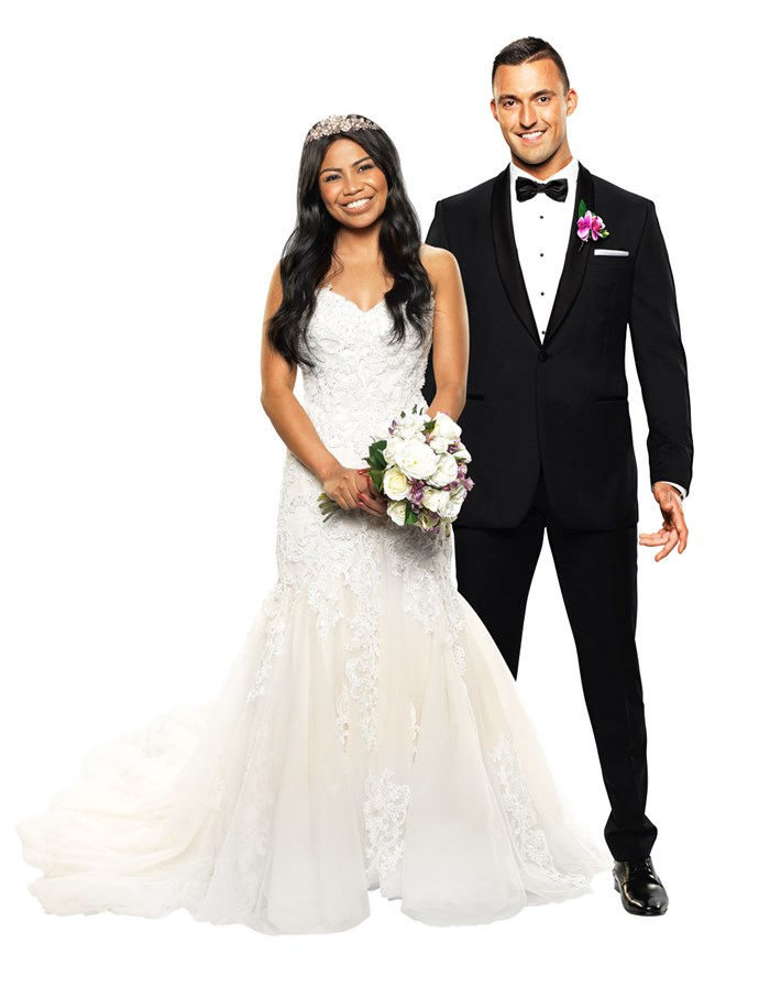 **NIC & CYRELL** <br><br> It was a bumpy start for Cyrell, 29, on her wedding day, as her brother, Ivan, seemed intent on destroying the ceremony.  <br><br> Though things took off on shaky ground, the experts could be on to something pairing Cyrell with Nic, 28. They both value their family above all else, though their second-favourite thing could be a cheeky laugh. <br><br> Both Nic and Cyrell were caught making 'dirty' jokes at the altar during their ceremony, and later in the hotel room they couldn't stop laughing as they made their way to bed for the night. <br><br> If MAFS doesn't end up leading to love, at least these two will have a hell of a time on the journey!