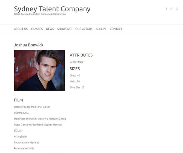 Josh has quite the list of skills. *(Image: Sydney Talent Company)*