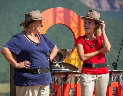 Angie and Yvie are thick as thieves on the reality TV show. *(Image: Network Ten)*