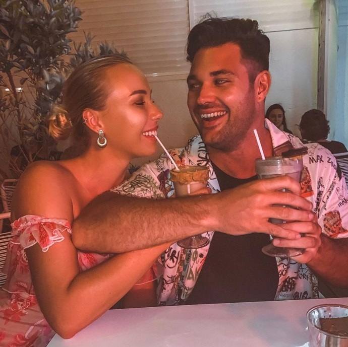 It's a match! *The Bachelorette*/*Bachelor In Paradise*'s Apollo has found love with *Love Island*'s Mac. *(Image: Instagram @edyndenise)*