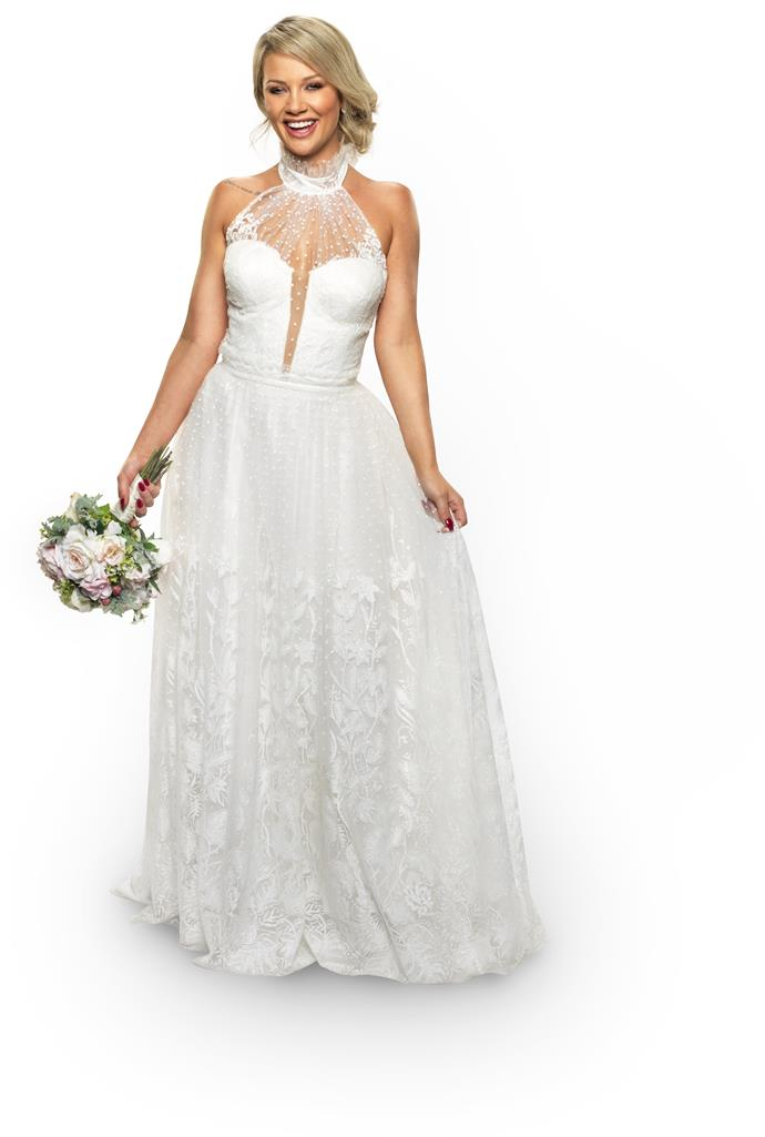 Jessika in her wedding dress on *Married At First Sight* (Image: Nine Network).