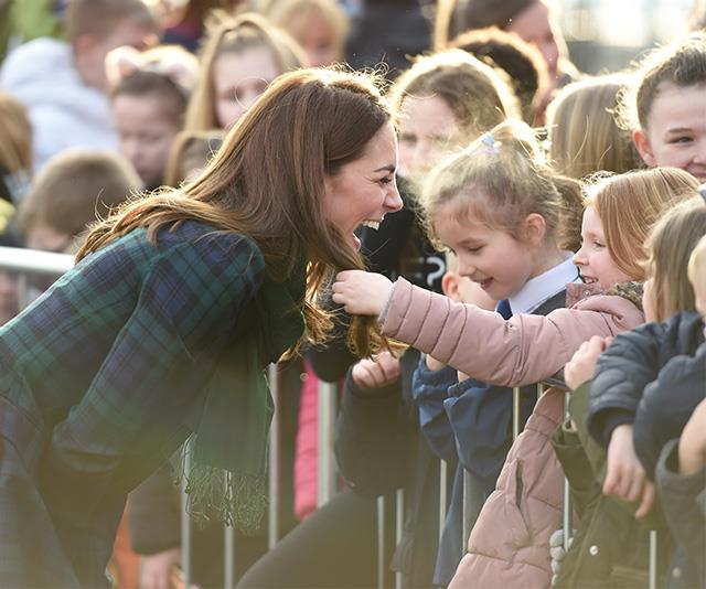 Too cute! We'd want Kate's perfect tresses too! *(Image: Getty)*