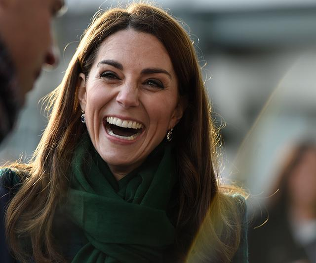 The Duchess looked at ease as she met thousands of well-wishers. *(Image: Getty)*