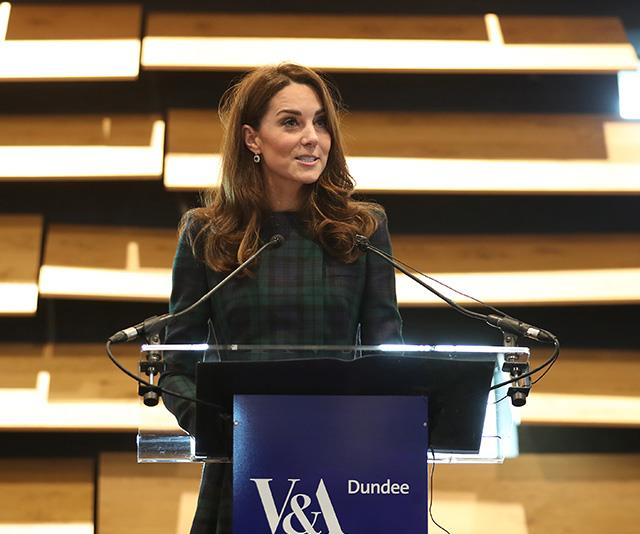 Kate delivered a speech as she officially opened the new museum. *(Image: Getty)*