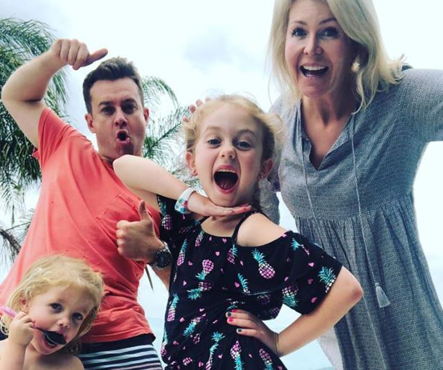 Grant and Chezzi wouldn't be the first couple to have their kids burst in on them! *(Image: Instagram @grantdenyer)*