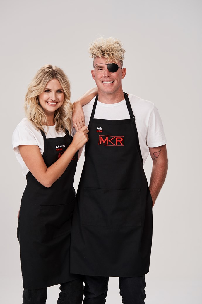 Ash is competing in MKR with his fiancée Stacey (Image: Channel Seven).