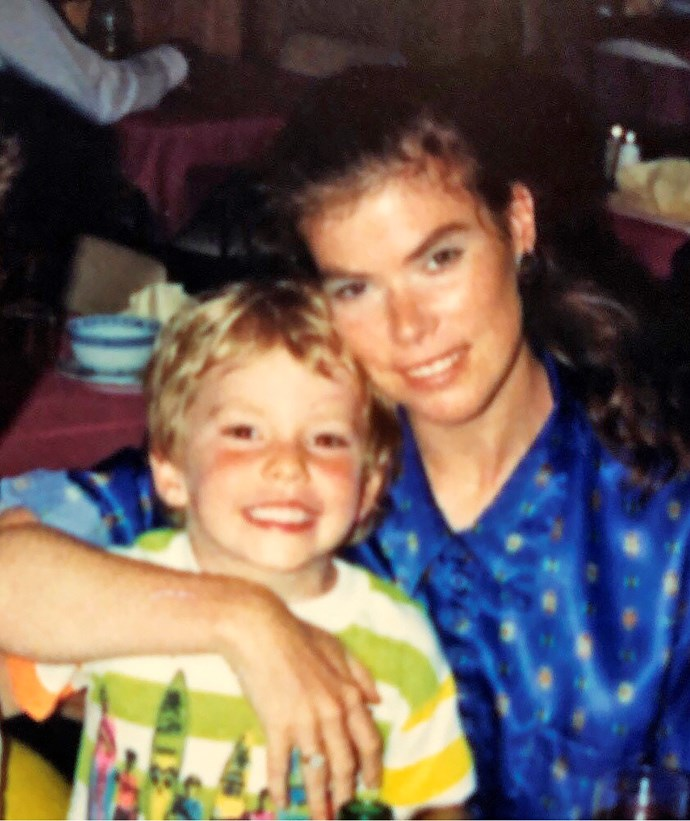 Ash with his mum Renee.
