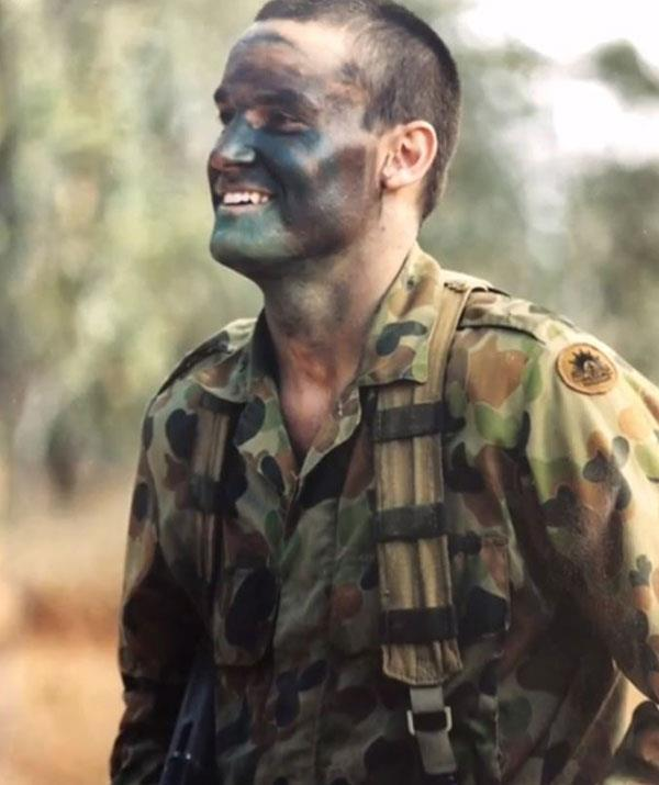 The 41-year-old used to work in the army. *(Image: Channel Nine)*