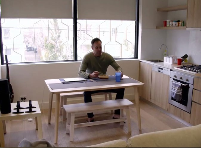 Mark's home looks straight out of the pages of an IKEA catalogue. *(Image: Channel Nine)*