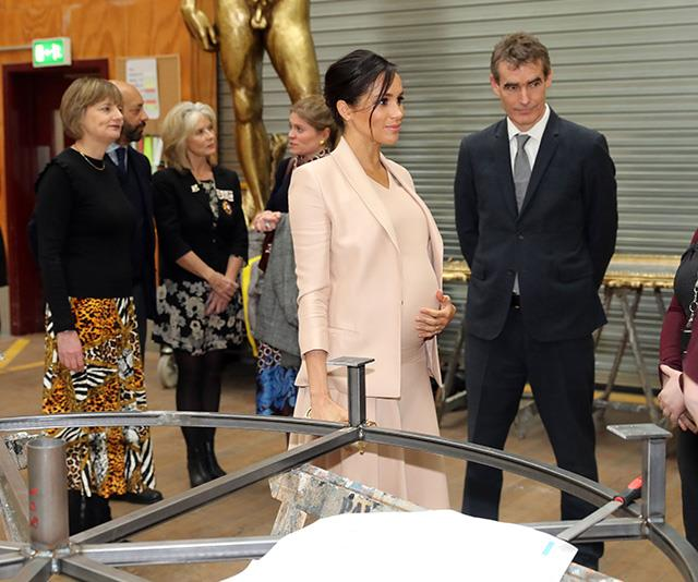The Duchess met with members from the Pericles company. *(Image: Getty)*