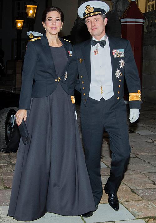 "The Crown Prince and Princess stepped out in January 2019 in their finery [to celebrate Danish Naval officers](https://www.nowtolove.com.au/royals/international-royals/princess-mary-prince-frederik-military-53868|target=""_blank""). *(Image: Mega)*"