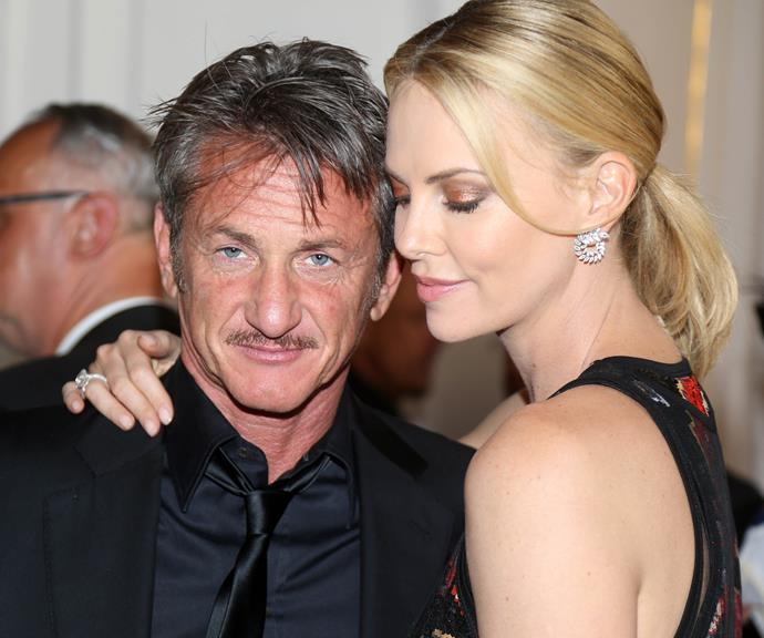 Charlize with ex-fiancé Sean Penn. *(Source: Getty)*