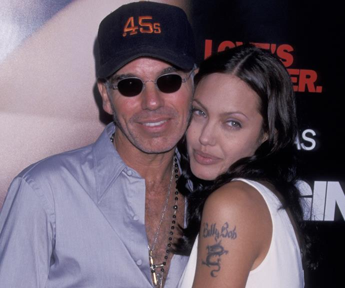 Angelina with former boyfriend, Billy Bob Thornton. *(Source: Getty)*