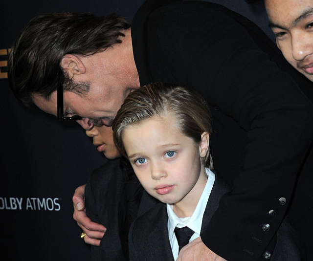**Shiloh Nouvel Jolie-Pitt:** Born May 27, 2006. Shiloh is the first biological child from the Brangelina relationship. Born in in Swakopmund, Namibia, Shiloh's arrival caused quite a stir with the first photos of the babe said to have netted almost 9.5 million dollars, money which Angelina donated to the United Nations children's charity UNICEF. Like her siblings, Shiloh has also shown an interest in the entertainment world, voicing a character in *Kung Fu Panda 3.* In July 2006, at just two months-old, Shiloh became the youngest person ever to be immortalised as a wax figurine at the legendary Madame Tussaud's in London.  *(Image: Getty Images)*