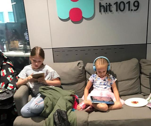 Fifi shared this hiarious snap to her Instagram from Bring Your Kids To Work Day in January. *(Image: Instagram /@fifi_box)*