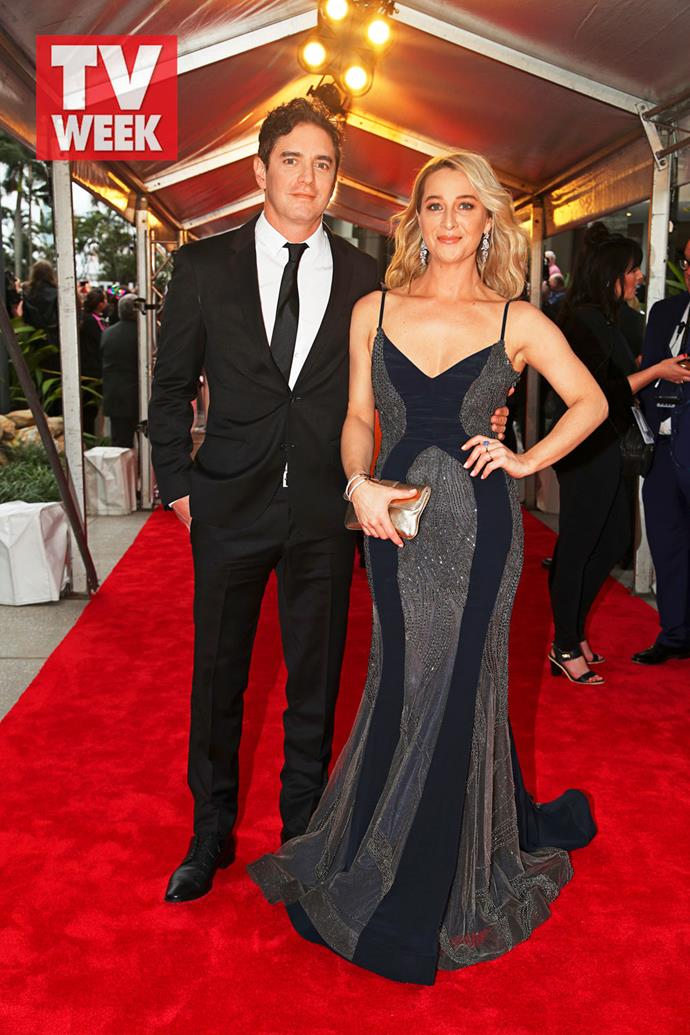 Asher Keddie and her husband Vincent Fantauzzo at the 2018 TV WEEK Logie Awards.
