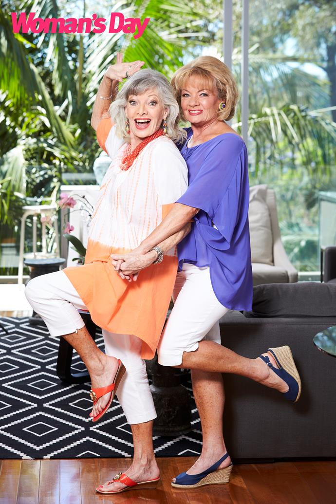 Carmen (left) and Paula celebrating after Carmen's positive health news. *(Image: Woman's Day)*