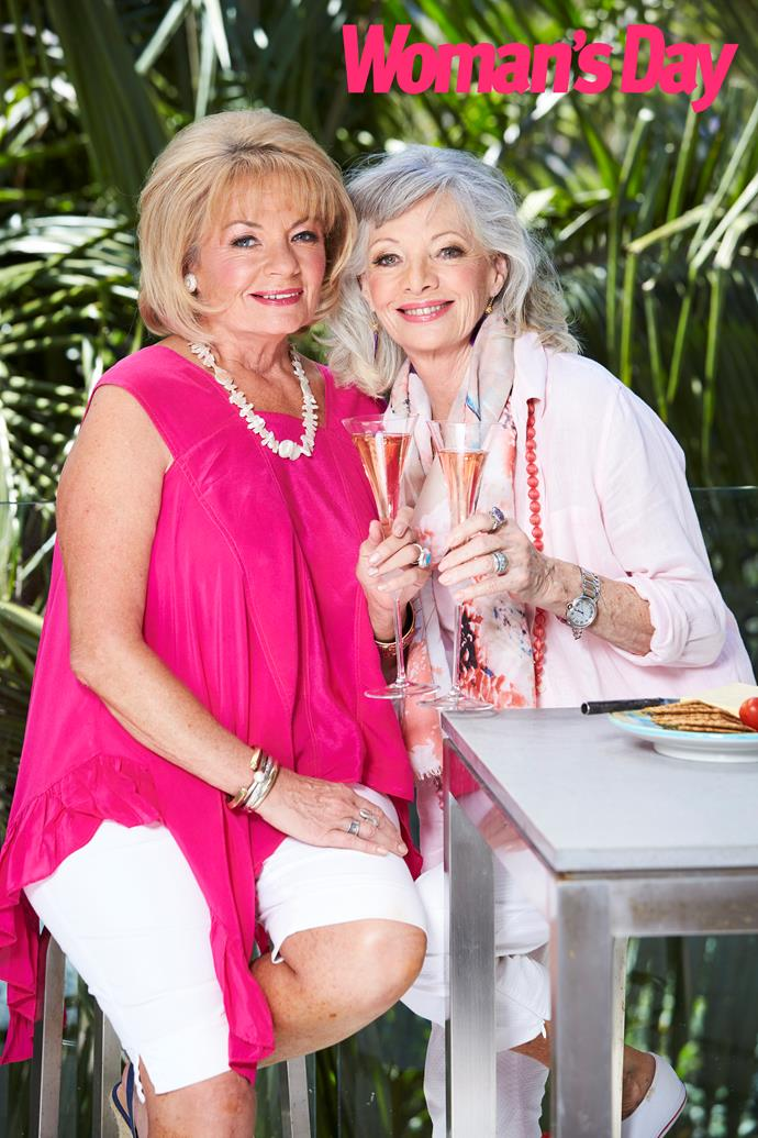 Paula (left) and Carmen are relieved after the star's recent health scare. *(Image: Woman's Day)*