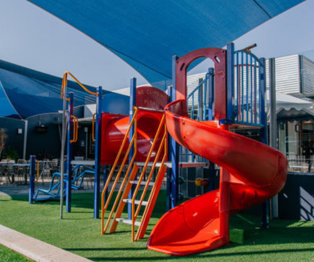 """**Carine Tavern:** A fun kids menu will keep little bellies happy, as will the great outdoor play area with a huge playground and mini golf! *(Image: [Carine Tavern](https://www.thecarine.com.au/