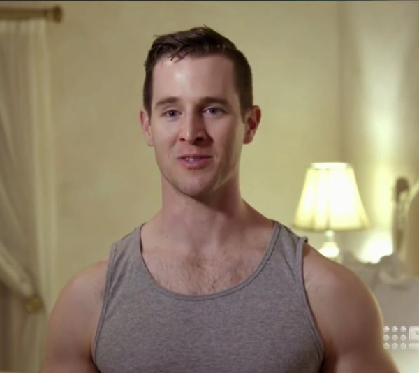 Um, would you look at those biceps! *(Image: Channel Nine)*