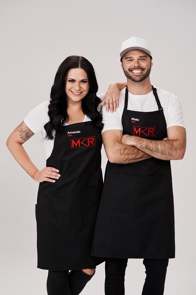 Amanda and Blake wowed the judges with their instant restaurant (Image: Channel Seven).
