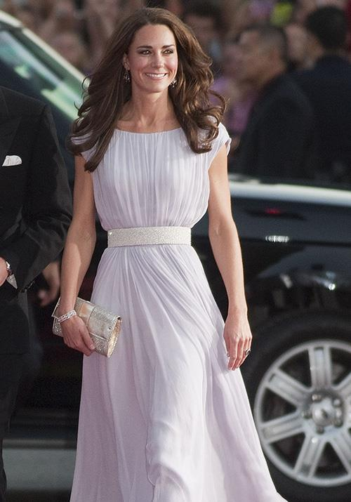 Kate's stunning Alexander McQueen dress is possibly one of our favourite looks on the Duchess of all time! *(Image: Getty)*
